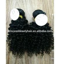 Kinky curl hair short curly hair weave for charming lovely black girls mink brazilian hair
