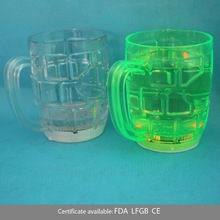 300ml led flashing plastic mini beer mug shot glass