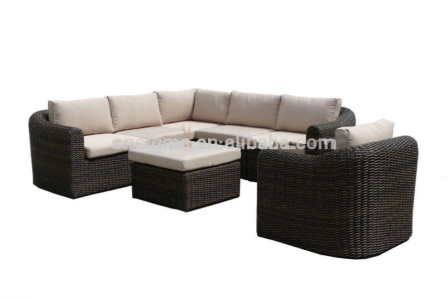 mobiliario jardim rattan : mobiliario jardim rattan:2015 sofá novo design de mobiliário de jardim rattan pátio em forma