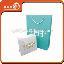 New fancy custom logo printed shopping paper bag design