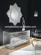 Decorative Framless Round Mirror