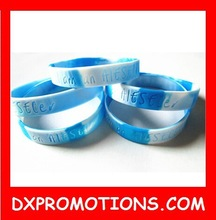 silicone wristband/OEM cheap bracelet/mixture color bangle