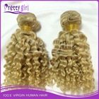 Wholesale afro kinky curly hair,100% remy virgin human hair extension,malaysian natural blonde curly human hair extensions