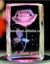 Led light base crystal 3d laser Crystal Wedding Gift