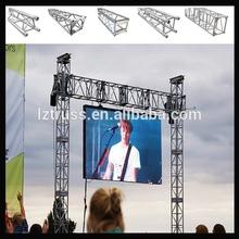 outdoor led, tv, light and speaker truss stand gantry truss system