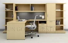 general manager office furniture, wall bookshelf with desk, executive manager desk (SZ-OD223)