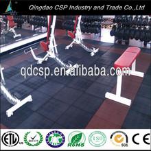 Heavy duty density noise reduction ruber gym flooring tile