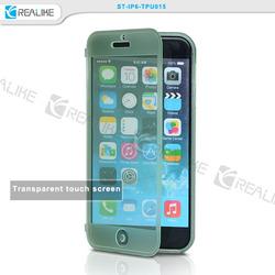 Transparent flip case for iphone 6 plus, PC flip case for iphone 6+