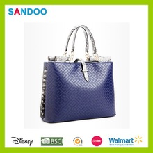 China manufacturer lady leather women bag, trendy new design leather hand bags