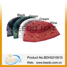 New wool felt embroidered muslim prayer cap men and women
