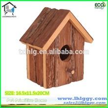 Reliable factory desarrollar varios hechos a mano de madera de keychain del birdhouse