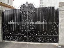 GYD-15G0050 Fine hand work solid iron villa gate designs