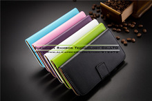 Card Slot Phone Bags Case Cover 6 Colors PU Leather Flip Phone Full Protector for Alcatel One Touch POP C5