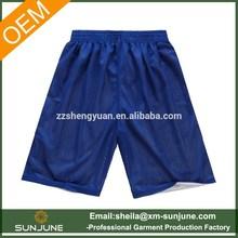 Custom reversible mens mesh basketball shorts