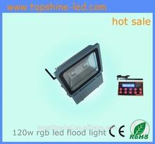2014 Top Sale!!! High Brightness Waterproof 120watt dmx rgb outdoor led flood light