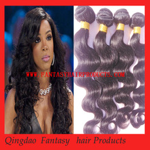 fantasy hair producs Body wave natural black 100% virgin hair bundles in fashion