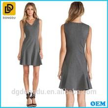 Fashion Designer Drop Waist Ladies Office Wear Dresses