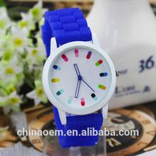 Geneva Silicone Quartz Ladies/Women/Girl Jelly Wrist Watch Candy Colors Waches