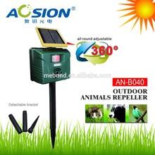 Aosion garden equipment with pir sensor solar ultrasonic bird repeller,cat animal trap