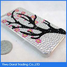 wholesale self-adhevise glitter acrylic mobile sticker with cartoon tree design