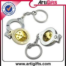 High end copper metal photo frame metal key chain