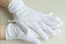 Factory Wholesale 100% Cotton Skidprof Full Finger Gloves PVC Dot Plam Black/ White Driver Ceremony/Parade Gloves For Men/Women