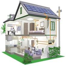 Full set On grid/Off grid backup Mounting system Home solar panel kit , solar energy system price