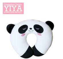 Panda patterm animal funny cotton plush u shape pillow