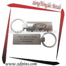 custom american car logo key ring for mens promotional gift