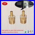 cnc de mecanizado de precisión de torneado de piezas de latón componentes para las unidades de tubería y accesorios de fontanería