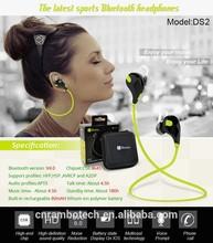 Top sale mini wireless long distance bluetooth headset stereo A2DP sport headset