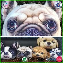 2015 factory Quality Printing cheap new listing dog head stock Animals Sofa cushion