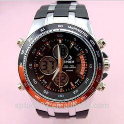 moq 50pcs new design with sports style digital / Japan quartz dual movement swimming watch