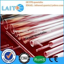 Clear thick wall quartz tube sheath