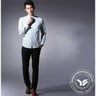 printed manufacter spandex/polyester women tuxedo shirt short sleeve