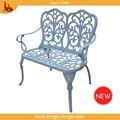Exterior de aluminio banco de jardín / bistro muebles sillas