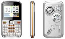 Q5 dual loudspeaker 3 sim qwerty phone with TV