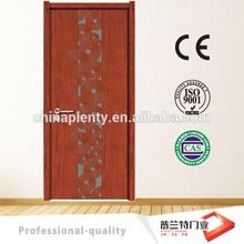 plain mahogany with glass solid wood doors