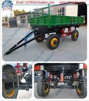 Robust construct farm tractor trailer four wheel farm trailer