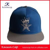 Custom cheap Snapback Cap/Wholesale short brim Snap Back Hat/5/6 Panel Snapback Cap With embroidery Patch Logo/Cheap Sports Cap