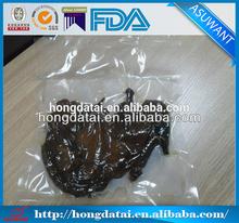 Clear plastic vaccum food bag
