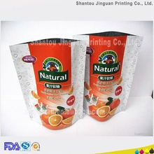 Resealable plastic freeze stock bag for dried fruit packaging bag
