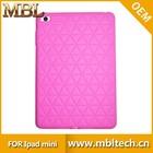silicon waterproof single color for apple ipad mini case cover
