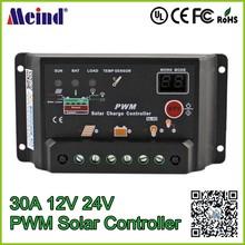 Brand New Digital PWM 30A Solar Charge Controller Regulator 12V 24V Auto switch Solar Panel Wholesale