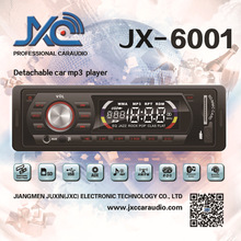 1 Din Detachable Front Panel Car mp3 Player Supports MP3/ AMFM Tuner/USB/SD/MMC JX-6001