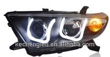 new design 2014 !! ce&rohs 12v 2012 highlander head light with HID bulbs