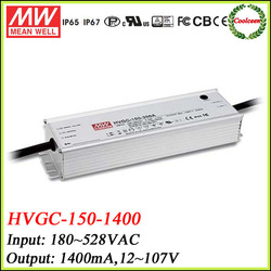 Meanwell dimmable led driver 150w HVGC-150-1400