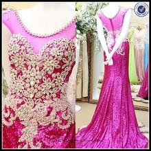 2015 Vintage lace long woman wear free pattern evening dresses china