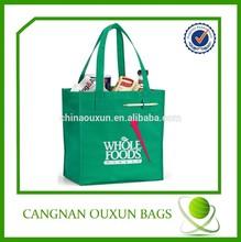 Most fashion reusable bag/reusable shopping bag/non woven green bag