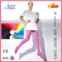 120D velvet many colors opaque japanese sexy pantyhose
